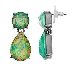 Simply Vera Vera Wang Green Simulated Crystal Teardrop Earrings