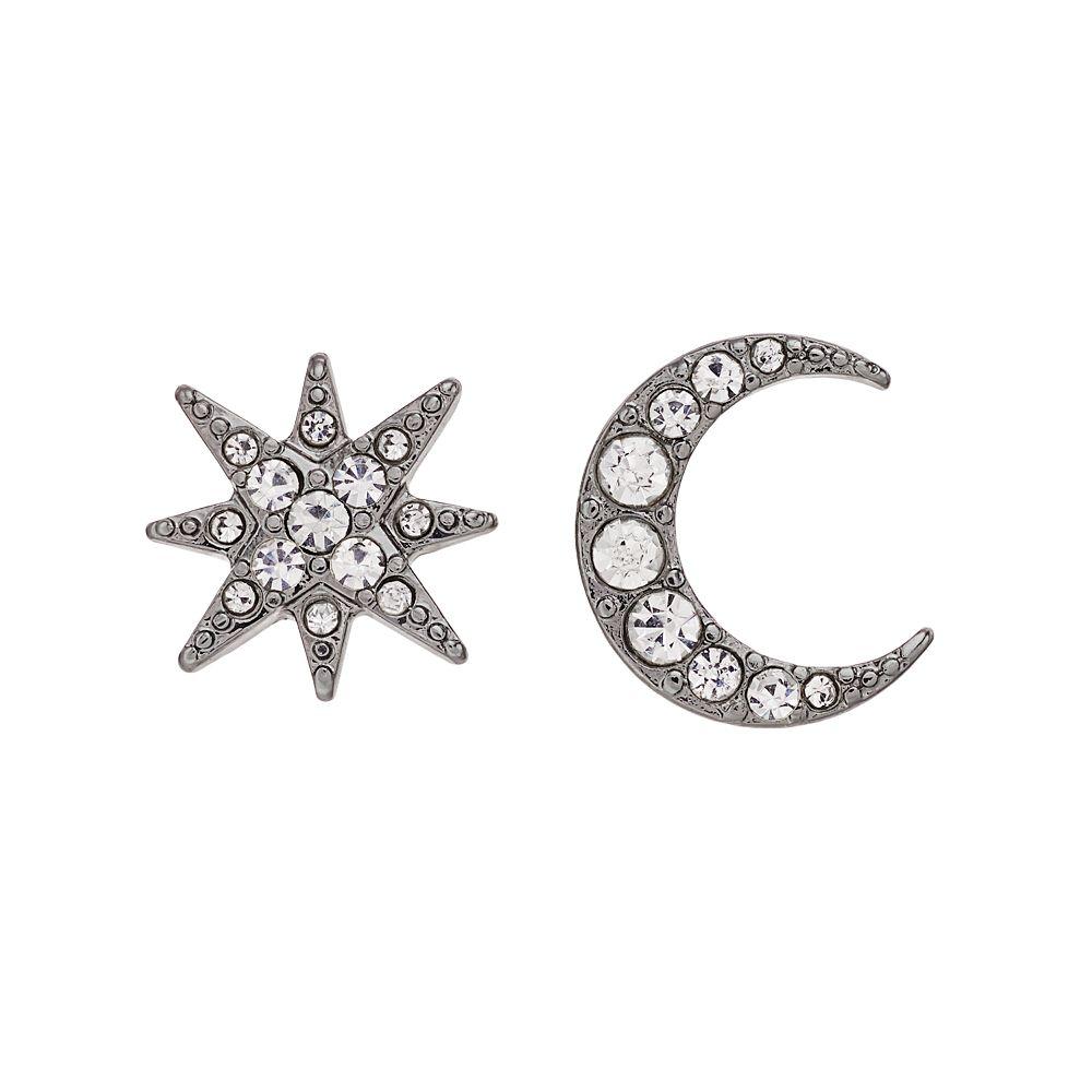Simply Vera Vera Wang Mismatch Star/Moon Earrings