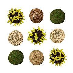 SONOMA Goods for Life™ Rustic Artificial Flower Ball Vase Filler 9-piece Set