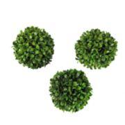 SONOMA Goods for Life? Artificial Boxwood Ball Vase Filler 3-piece Set