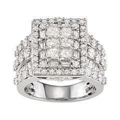 14k White Gold 4 Carat T.W. Diamond Ring
