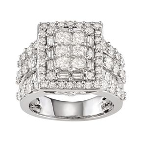 14k White Gold 4 Carat T.W. Diamond Ring