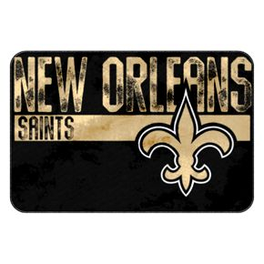 New Orleans Saints Memory Foam Bath Mat