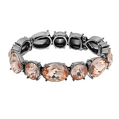 Simply Vera Vera Wang Pink Simulated Crystal Stretch Bracelet