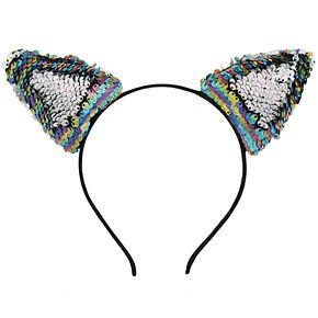 Girls 4-16 Elli by Capelli Flippable Sequin Cat Ears Headband
