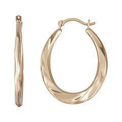 Taylor Grace 10k Gold Twist Hoop Earrings