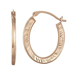Taylor Grace 10k Gold Textured Hoop Earrings