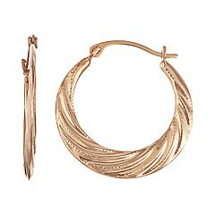 Taylor Grace 10k Gold Faceted Hoop Earrings
