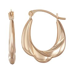 Taylor Grace 10k Gold Puffed Hoop Earrings