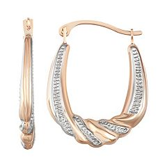 Taylor Grace 10k Textured Hoop Earrings