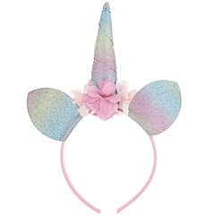 Girls 4-16 Elli by Capelli Glittery Unicorn Headband