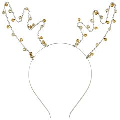 Girls 4-16 Elli by Capelli Jingle Bell Reindeer Headband