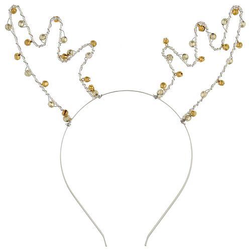 Girls 4-16 Elli by Capelli Jingle Bell Reindeer Headband