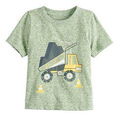 Baby Boy Jumping Beans® Dump Truck Slubbed Tee