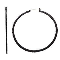 Simply Vera Vera Wang Black Tone Bead Detail Twist Hoop Earrings