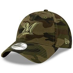 0cf6393639090 Adult New Era Milwaukee Brewers Core Classic Camo 9TWENTY Baseball Cap