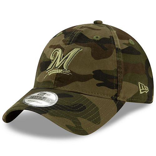 db631ab1 Adult New Era Milwaukee Brewers Core Classic Camo 9TWENTY ...