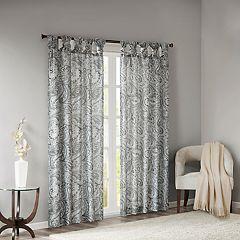 Madison Park Rosalie Twist Tab Paisley Printed Window Curtain