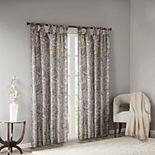 Madison Park Rosalie Twist Tab Paisley Printed Window Curtain