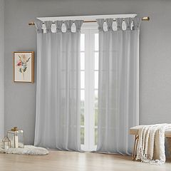 Madison Park Embellished Floral Window Curtain