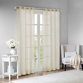 Madison Park Damask Burnout Sheer Window Curtain