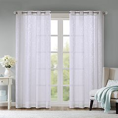 Madison Park Damask Burnout Sheer Window Curtain
