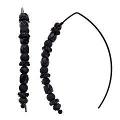Simply Vera Vera Wang Black Tone Bead Detail Threader Drop Earrings