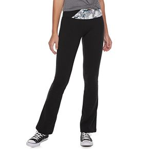 Juniors' SO® High Rise Spliced Waistband Skinny Boot Pants