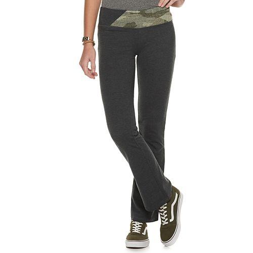Juniors' SO® High Rise Spliced Waistband Skinny Boot Pants