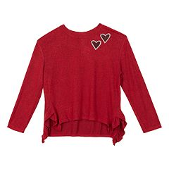 Girls 7-16 IZ Amy Byer Ruffled Side Sweater