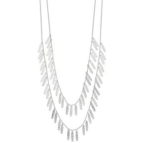 SONOMA Goods for Life? Silver Tone Casting Chain Layered Multi Strand Necklace