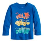 Toddler Boy Jumping Beans® Front & Back Truck Long Sleeve Graphic Tee