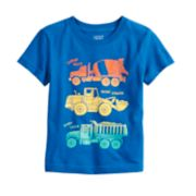 Toddler Boy Jumping Beans® Front & Back Truck Graphic Tee