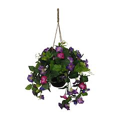 SONOMA Goods for Life™ Artificial Morning Glories Hanging Flower Basket Decor