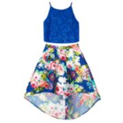 Girls 7-16 IZ Amy Byer Floral Skirt & Sleeveless Crop Top Set