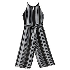 Girls 7-16 IZ Amy Byer Striped Chiffon Jumpsuit