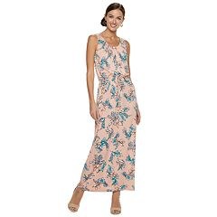 Women's Nina Leonard Floral Blouson Maxi Dress