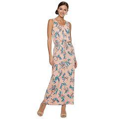 Women's Nina Leonard Floral Blouson Maxi Dress