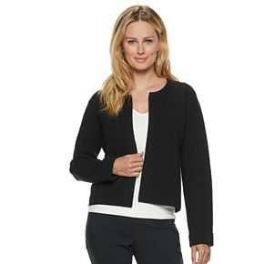 Women's ELLE? Textured Open-Front Jacket