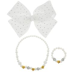 Girls 4-16 Elli by Capelli Hair Bow, Necklace & Bracelet Set