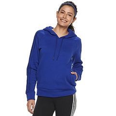 Women's adidas Cotton-Blend Fleece 3-Stripe Hoodie
