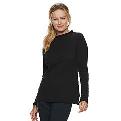 Women's ELLE™ Pucker-Stitch Funnelneck Sweater