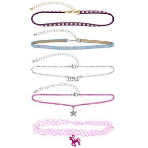 Girls 4-16 Elli by Capelli Unicorn Choker Necklace Set
