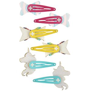 Girls 4-16 Elli by Capelli 6-pack Unicorn Snap Hair Clips