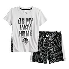 Toddler Boy Jumping Beans® Baseball Amazing Active Tee & Shorts Set