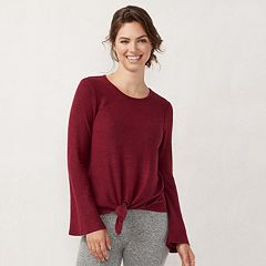 Women's LC Lauren Conrad Weekend Supersoft Knot-Front Top