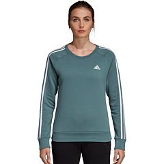 Women's adidas Fleece 3-stripe Crew Sweatshirt
