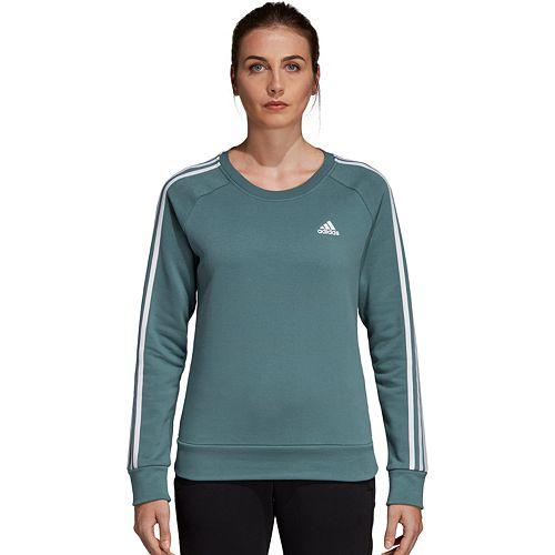 Women's adidas Fleece 3-stripe Crew Sweatshirt