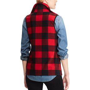 Petite Chaps Plaid Fleece Vest