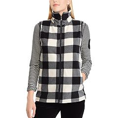 Petite Chaps Plaid Fleece Vest